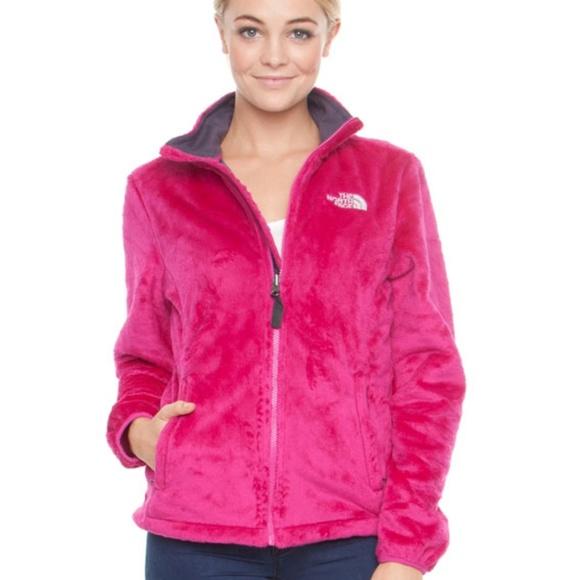 d46e0c66e Hot pink fuzzy North Face Osito jacket